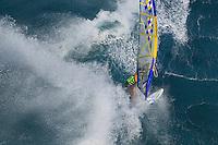Pascal Hardy (CAN) windsurfing in Ho'okipa Beach Park (Maui, Hawaii, USA)