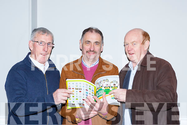 Tim Dennehy Castlegregor, Martin Leane Duagh and Gary Fitzgerald Castlegregory checking the accounts  at the Kerry GAA County Board Convention in the INEC on Monday night