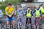 Padraig Crean, Aoibheann O'Dwyer, Odhran Barry and Sinead Crean at the Castleisland Day CAre centre cycle on Sunday