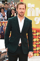 "Ryan Gosling<br /> arrives for the premiere of ""The Nice Guys"" at the Odeon Leicester Square, London.<br /> <br /> <br /> ©Ash Knotek  D3120  19/05/2016"