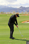 Luke Donald (ENG) on the practice range before the start of Finals Day 5 of the Accenture Match Play Championship from The Ritz-Carlton Golf Club, Dove Mountain, Sunday 27th February 2011. (Photo Eoin Clarke/golffile.ie)