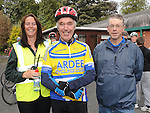Linda Martin, Eugene McCabe and Oliver Arthur who took part in the Ardee Cycle club 50Km cycle. Photo: Colin Bell/pressphotos.ie