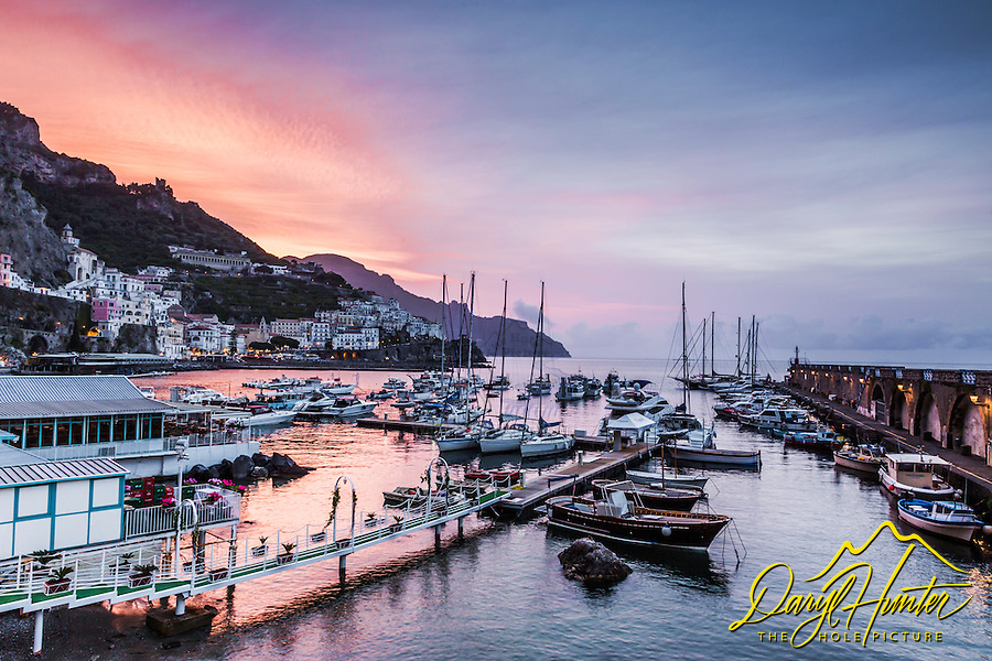 Amalfi Harbor Sunrise