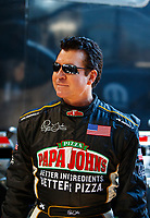 Mar 18, 2017; Gainesville , FL, USA; Papa Johns Pizza founder John Schnatter during qualifying for the NHRA Gatornationals at Gainesville Raceway. Mandatory Credit: Mark J. Rebilas-USA TODAY Sports