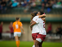 STANFORD, CA - November 23, 2018: Jaye Boissiere, Catarina Macario at Laird Q. Cagan Stadium. The top seeded Stanford Cardinal defeated the Tennessee Volunteers 2-0 in the Quarterfinal of the NCAA tournament.