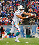 9 December 2007: Miami Dolphins punter Brandon Fields in action against the Buffalo Bills at Ralph Wilson Stadium in Orchard Park, NY. The Bills defeated the Dolphins 38-17. ..Mandatory Photo Credit: Ed Wolfstein Photo