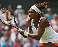 01-07-13, England, London,  AELTC, Wimbledon, Tennis, Wimbledon 2013, Day seven, Serina Williams (USA)<br /> <br /> <br /> Photo: Henk Koster