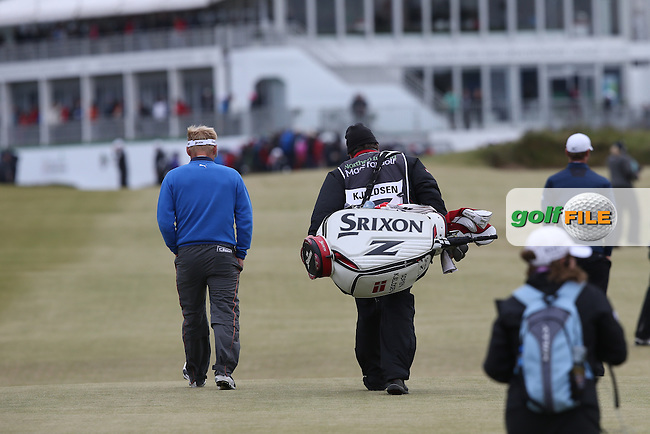 Heading to the last Soren Kjeldsen (DEN) drops shots on the 17th and 18th but has a two-shot lead during Round Three of the 2015 Dubai Duty Free Irish Open Hosted by The Rory Foundation at Royal County Down Golf Club, Newcastle County Down, Northern Ireland. 30/05/2015. Picture David Lloyd | www.golffile.ie