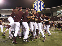 The Mississippi State Diamond Dawgs won the university&rsquo;s 11th Southeastern Conference regular-season championship Saturday [May 21] with a 9-4 victory against Arkansas before 8,421 cowbell-ringing fans at Dudy Noble Field. MSU will be the No. 1 seed in the SEC Tournament, which begins Tuesday [May 24] in Hoover, Alabama. MSU will face either Kentucky or Alabama at 4:30 p.m. Wednesday [May 25] in the third game of the tournament&rsquo;s second round.<br />