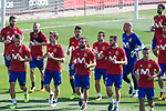 Sergio Ramos, Andres Iniesta, Cesar Azpilicueta, Nacho Monreal, David Villa, Dani Carvajal,  Pedro Rodriguez, Nacho Fernandez, Pepe Reina during training of the spanish national football team in the city of football of Las Rozas in Madrid, Spain. August 30, 2017. (ALTERPHOTOS/Rodrigo Jimenez)