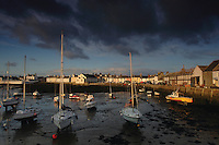 Isle of Whithorn at dusk, Dumfries and Galloway