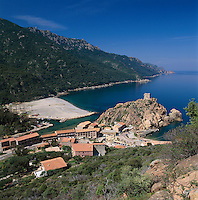 France, Corsica, Porto: at Gulf of Porto - UNESCO World Natural Heritage   Frankreich, Korsika, Porto: am Golf von Porto - UNESCO Weltnaturerbe