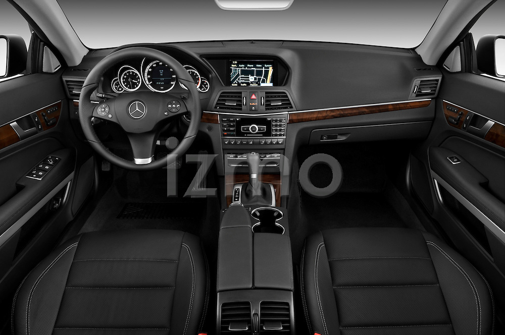 Straight dashboard view of a 2011 Mercedes E 550 Convertible.