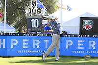 Kevin Phelan (IRL) on the 10th tee during Round 1 of the ISPS HANDA Perth International at the Lake Karrinyup Country Club on Thursday 23rd October 2014.<br /> Picture:  Thos Caffrey / www.golffile.ie