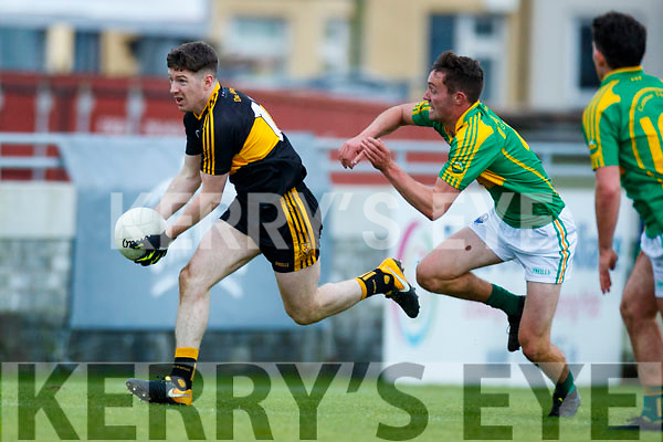 Kieran O'Leary Dr Crokes in action against Fionán Clifford South Kerry in the Senior County Football Final in Austin Stack Park on Sunday