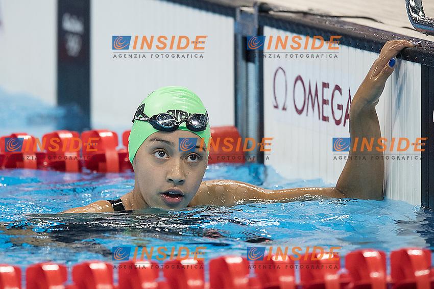 SINGH Gaurika NEP the youngest athlete of the Olympic games<br /> 100 backstroke women<br /> Rio de Janeiro 06-08-2016 XXXI Olympic Games <br /> Olympic Aquatics Stadium <br /> Swimming heats 07/08/2016<br /> Photo Andrea Staccioli/Deepbluemedia/Insidefoto