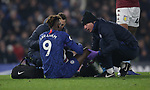 Chelsea's Tammy Abraham receives medical attention before being substituted during the Premier League match at Stamford Bridge, London. Picture date: 4th December 2019. Picture credit should read: Paul Terry/Sportimage