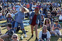 Pictured: Music fans in the crowd. Saturday 13 July 2019<br /> Re: Stereophonics live concert at the Singleton Park in Swansea, Wales, UK.