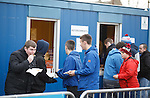 A steady queue for pies and coffees for hungry bears inside Links Park
