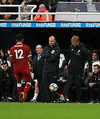 1st October 2017, St James Park, Newcastle upon Tyne, England; EPL Premier League football, Newcastle United versus Liverpool; Jurgen Klopp Manager of Liverpool flicks the ball back to Joe Gomez in the 1-1 draw