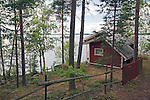 Sauna Cottage Nestled in Grove by Lake during Finland Summer