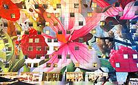 Nederland Rotterdam   2017 - De Markthal in Rotterdam is een woon- en winkelgebouw met inpandige markthal, gesitueerd bij Blaak. Naast een overdekte markt herbergt het complex 228 appartementen, winkels en horeca. Het gebouw is een ontwerp van MVRDV architecten. De appartementen kijken uit over de marktvloer.  Foto Berlinda van Dam / Hollandse Hoogte