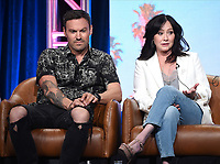 2019 FOX SUMMER TCA: Brian Austin Green, and Shannen Doherty during the BH90210 panel at the 2019 FOX SUMMER TCA at the Beverly Hilton Hotel, Wednesday, Aug. 7 in Beverly Hills, CA. CR: Frank Micelotta/FOX/PictureGroup