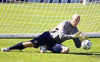 USA goalkeeper Marcus Hahnemann during training in Hamburg, Germany, for the 2006 World Cup, June, 6, 2006.