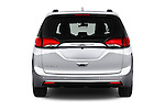 Straight rear view of 2017 Chrysler Pacifica Touring-L-Plus 5 Door Minivan Rear View  stock images