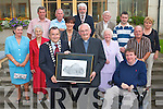 CIVIC RECEPTION: Mayor Ted Fitzgerald presenting a picture to Monsignor Dan O'Riordan at a Civic reception held in his honour at Tralee Town Chambers on Tuesday front l-r: Mayor Ted Fitzgerald, Monsignor Dan O'Riordan and Terry O'Brien. Centre l-r: Dolores McConville, Maureen Miller, Norma Foley, Kathleen O'Shea and Tommy Foley. Back l-r: Pat Hussey, John Commane, Johnny Wall, James Miller, Cathal Foley and Maisie Houlihan.   Copyright Kerry's Eye 2008