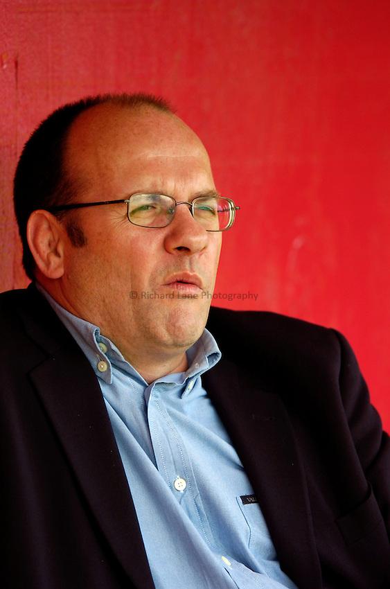 Photo. Richard Lane..NEC Harlequins v Sale Sharks. Zurich Premiership. 30/04/2005..Harlequins Chief Executive, Mark Evans.