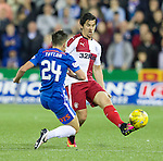 Greg Taylor gets a straight red card for this challenge on Joey Barton