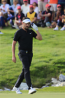 Mike Lorenzo-Vera (FRA) walks onto the 18th green during Sunday's Final Round 4 of the 2018 Omega European Masters, held at the Golf Club Crans-Sur-Sierre, Crans Montana, Switzerland. 9th September 2018.<br /> Picture: Eoin Clarke | Golffile<br /> <br /> <br /> All photos usage must carry mandatory copyright credit (&copy; Golffile | Eoin Clarke)