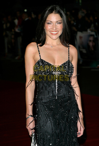 """CLAIRE (BAD GIRLS).Arrivals - """"Children Of Men"""" Premiere, .Odeon Leicester Square Cinema, London, England, September 19th 2006..half length black dress beaded.Ref: AH.www.capitalpictures.com.sales@capitalpictures.com.©Adam Houghton/Capital Pictures."""