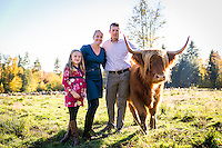 Family Session in a Field with Cows!