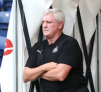 Newcastle United's Manager Steve Bruce <br /> <br /> Photographer Stephen White/CameraSport<br /> <br /> Football Pre-Season Friendly - Preston North End v Newcastle United - Saturday July 27th 2019 - Deepdale Stadium - Preston<br /> <br /> World Copyright © 2019 CameraSport. All rights reserved. 43 Linden Ave. Countesthorpe. Leicester. England. LE8 5PG - Tel: +44 (0) 116 277 4147 - admin@camerasport.com - www.camerasport.com