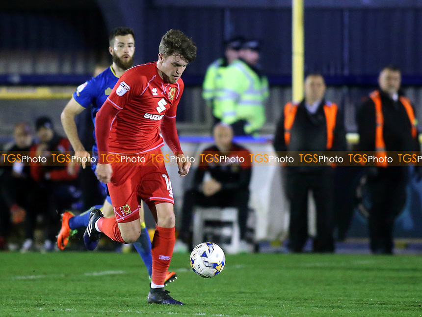 Robbie Muirhead of MK Dons during AFC Wimbledon vs MK Dons, Sky Bet EFL League 1 Football at the Cherry Red Records Stadium on 14th March 2017