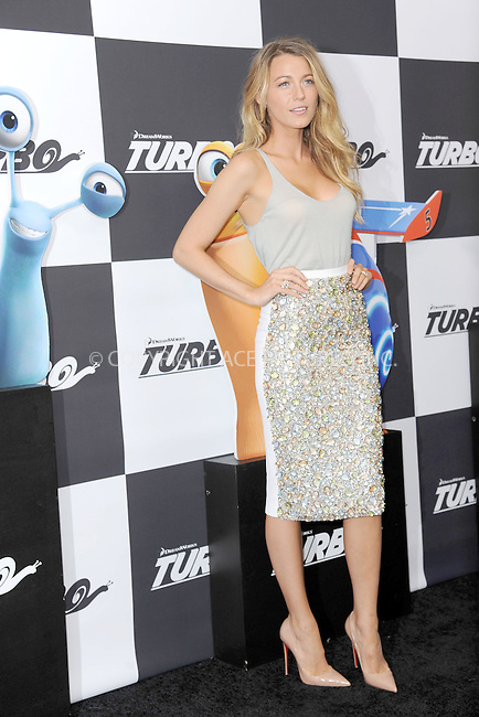 WWW.ACEPIXS.COM<br /> July 9, 2013...New York City <br /> <br /> Blake Lively attending the DreamWorks Animation, in Association with 20th Century Fox Premiere of TURBO<br /> at AMC Loews Lincoln Square, New York, NY on July 9, 2013.<br /> <br /> Please byline: Kristin Callahan... ACE<br /> Ace Pictures, Inc: ..tel: (212) 243 8787 or (646) 769 0430..e-mail: info@acepixs.com..web: http://www.acepixs.com