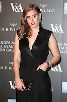 Princess Beatrice arriving for the Alexander McQueen: Savage Beauty Fashion Gala at the V&A, London. 12/03/2015 Picture by: Alexandra Glen / Featureflash