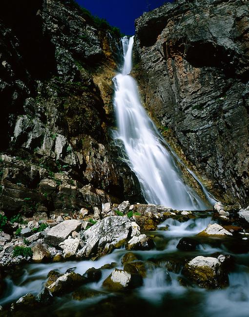 Apikuni Falls. Glacier National Park.