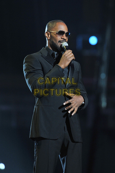 Jamie Foxx.Michael Forever Tribute Concert at The Millenium Stadium, Cardiff, Wales, UK 8th October 2011.performing live in on stage .CAP/MAR.© Martin Harris/Capital Pictures.