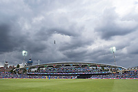 The floodlights were turned on as the skies closed in during India vs Australia, ICC World Cup Cricket at The Oval on 9th June 2019