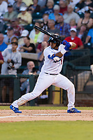 AFL West catcher Keibert Ruiz (17), of the Glendale Desert Dogs and Los Angeles Dodgers organization, at bat during the Arizona Fall League Fall Stars game at Surprise Stadium on November 3, 2018 in Surprise, Arizona. The AFL West defeated the AFL East 7-6 . (Zachary Lucy/Four Seam Images)