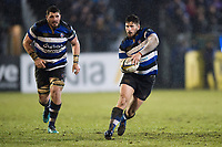 Nathan Charles of Bath Rugby in possession. Anglo-Welsh Cup Semi Final, between Bath Rugby and Northampton Saints on March 9, 2018 at the Recreation Ground in Bath, England. Photo by: Patrick Khachfe / Onside Images