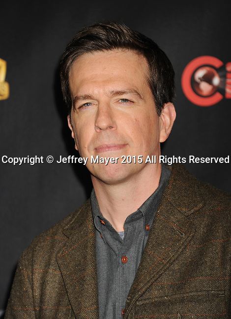 LAS VEGAS, CA - APRIL 21: Actor Ed Helms arrives at Warner Bros. Pictures Invites You to ?The Big Picture at The Colosseum at Caesars Palace during CinemaCon, the official convention of the National Association of Theatre Owners, on April 21, 2015 in Las Vegas, Nevada.