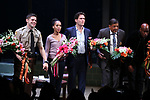 Jeremy Jordan, Kerry Washington, Steven Pasquale, Eugene Lee and Kenny Leon during the Broadway Opening Night Curtain Call for 'AMERICAN SON' at the Booth Theatre on November 4, 2018 in New York City.