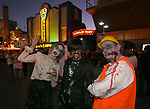 A photograph taken during the Zombie Crawl held on Saturday night, October 26, 2019 in downtown Reno.