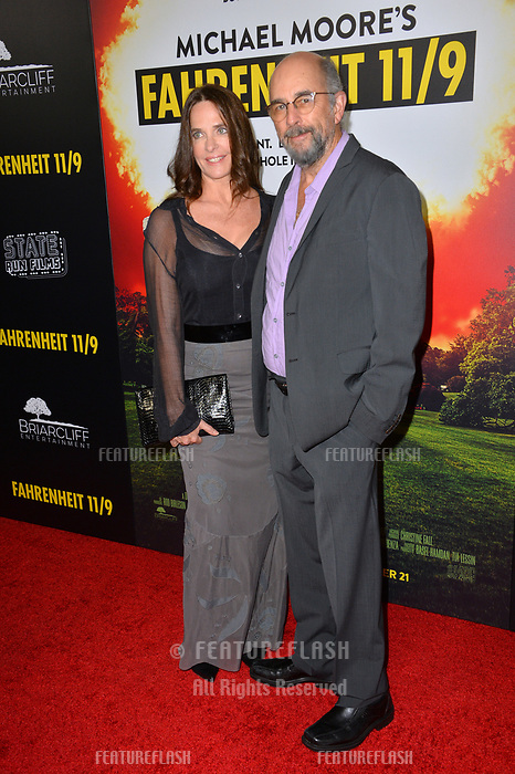 """LOS ANGELES, CA. September 19, 2018: Richard Schiff & Sheila Kelley at the Los Angeles premiere for Michael Moore's """"Fahrenheit 11/9"""" at the Samuel Goldwyn Theatre.<br /> Picture: Paul Smith/Featureflash"""