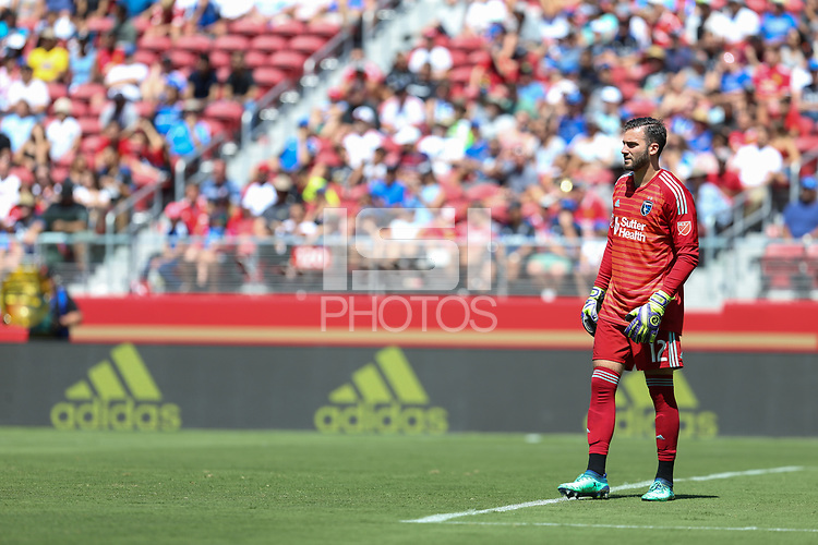 Santa Clara, CA - Sunday July 22, 2018: Matt Bersano during a friendly match between the San Jose Earthquakes and Manchester United FC at Levi's Stadium.