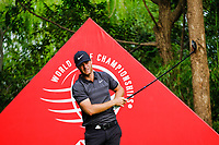 Lucas Bjerregaard (DEN) on the 9th tee during the 2nd round at the WGC HSBC Champions 2018, Sheshan Golf Club, Shanghai, China. 26/10/2018.<br />